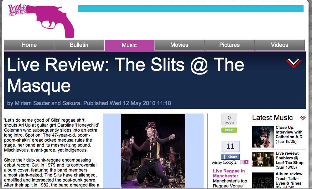Review: The Slits @ The Masque